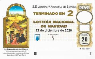 Lotería de Navidad de Soria terminación 2