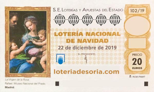 Décimo Lotería de Navidad 2019