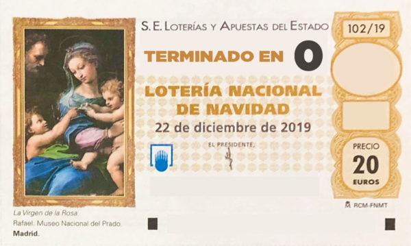Lotería de Navidad de Soria terminación 0