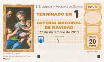 Lotería de Navidad de Soria terminación 1