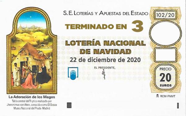 Lotería de Navidad de Soria terminación 3