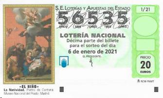 56535 Sorteo Extraordinario del Niño 2021